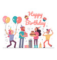 happy birthday party event concept vector image vector image