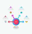 Infographic design template with round central vector image
