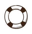 Life buoy help and safety symbol vector image
