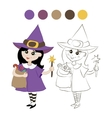 little witch costume vector image