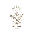 logo autumn nature vector image vector image