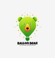 logo balloon bear gradient colorful style vector image