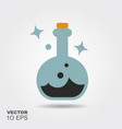magic potions in glass flat silhouette icon vector image