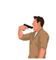 man with gun suicide vector image vector image