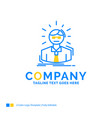 manager employee doctor person business man blue vector image vector image
