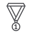 medal line icon school and sport award sign vector image