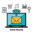 online security flat icons vector image vector image