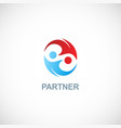 partner colored logo vector image vector image