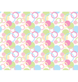 pattern made of rings and circles vector image vector image