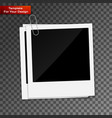 photo frame on transparent background vector image vector image