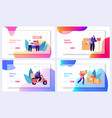 post office service website landing page vector image