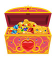 princess treasure chest decorated with diamonds vector image vector image