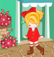 Red dress cute look vector image vector image