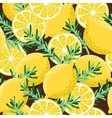 Seamless lemon and rosemary vector image vector image