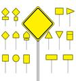 set blank road sign vector image