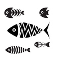 set icons fish vector image