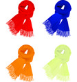 set of colorful scarfs vector image