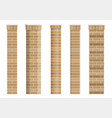 set of textures of brick classical columns vector image