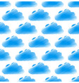 sketchy doodle cloud pattern with round cumulus vector image