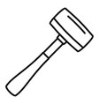 sledge hammer icon outline style vector image vector image