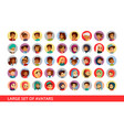 social network user avatars cartoon vector image vector image