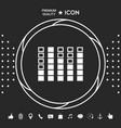 spectrum analyzer equalizer icon graphic vector image