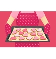 Sweet heart shape cookies vector image vector image