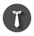tie flat icon necktie with long shadow vector image