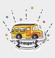 transportation school bus patches design vector image vector image