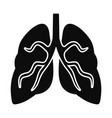 tuberculosis lungs icon simple style vector image vector image