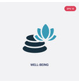 two color well-being icon from sauna concept vector image vector image