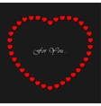 Valentines card with small red hearts and text vector image vector image