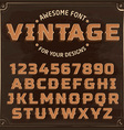 Vintage Label Font with shadow vector image vector image