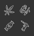 weed products chalk icons set cannabis industry vector image