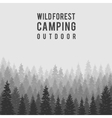 wild coniferous forest background Outdoor vector image vector image