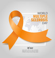 world multiple sclerosis day vector image vector image
