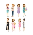 Young pregnant woman character vector image