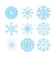 modern snowflakes flat icons set vector image