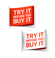 Try it before you buy it label vector image