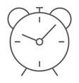 alarm clock thin line icon time and hour vector image vector image