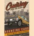 american custom car vintage colorful poster vector image