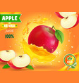 Apple juice advertising fruit refreshing drink