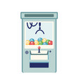 arcade game machine flat claw vector image vector image