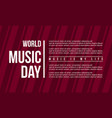 background style music day flat vector image