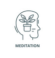 balance and meditation line icon linear vector image vector image