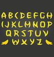 banana font vector image vector image