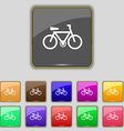 bicycle icon sign Set with eleven colored buttons vector image vector image