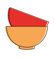 bowl coffee isolated icon vector image