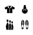 bowling simple related icons vector image vector image