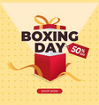 boxing day sale background for social media post vector image